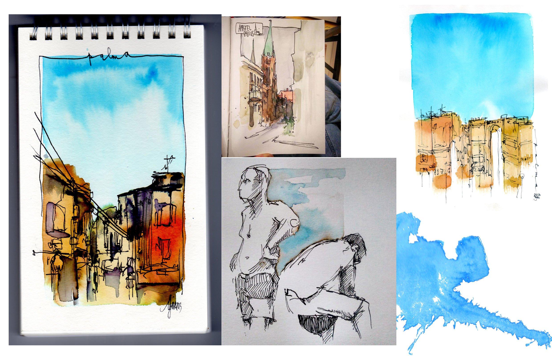 Sketchen und Kolorieren Workshop @ Grishaus urbansketching