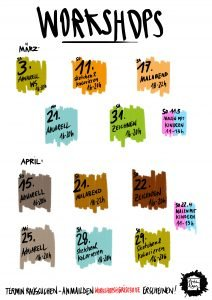 Kalenderblatt Termine Grishaus Belrin Aquarellworkshop Zeichnen sketching