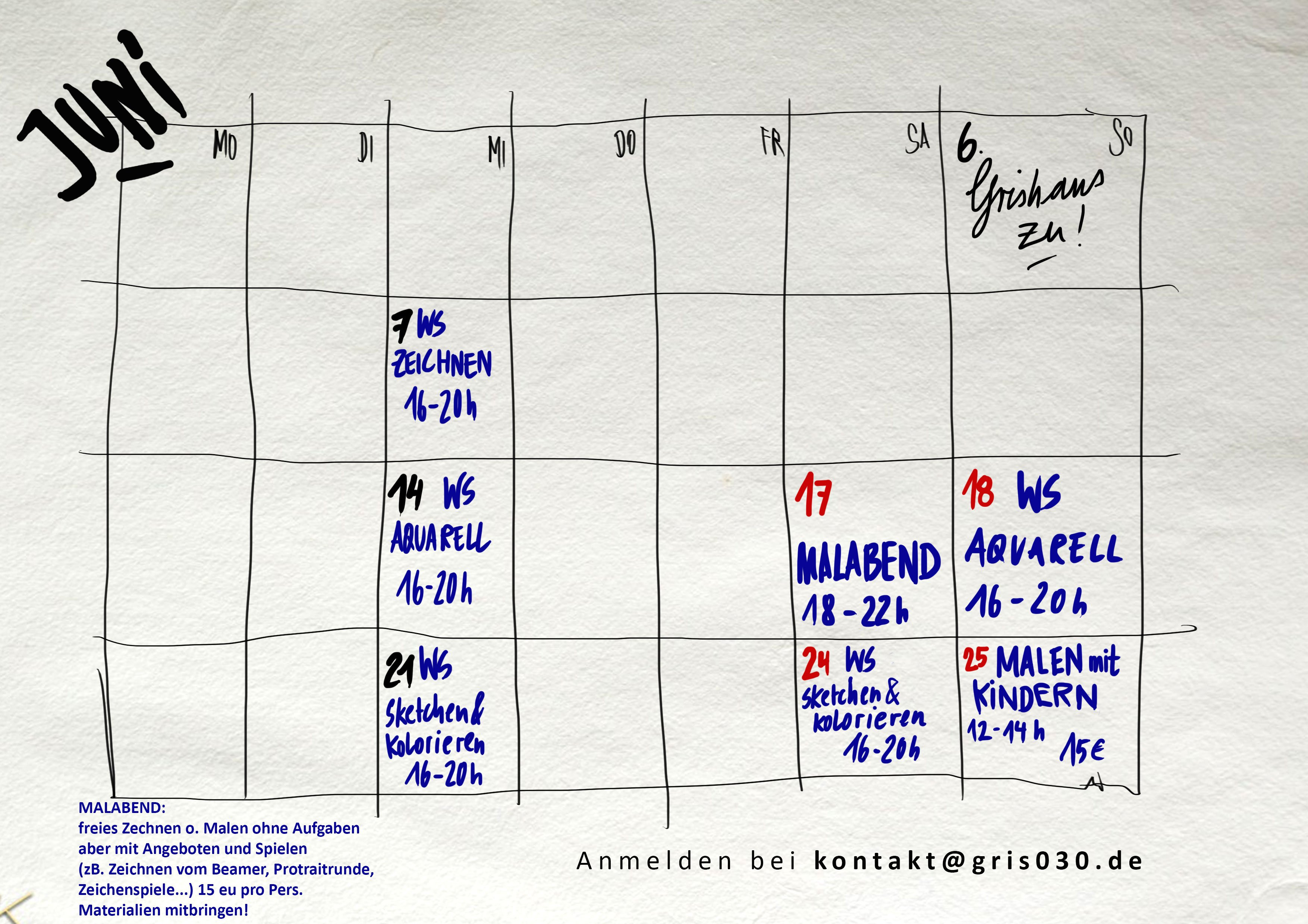 Workshops im Grishaus berlin , aquarell, zeichnen, urban sketching